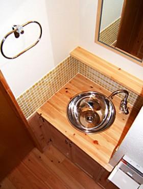造り付け手洗器