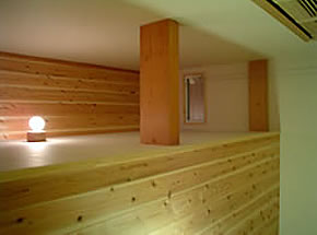 主寝室の天井