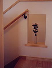 階段ホールのニッチ