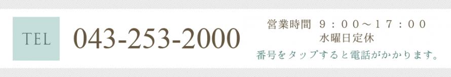 電話番号:043-253-2000